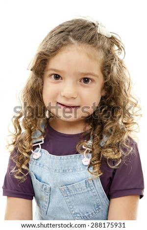 Portrait of a cute child smiling .