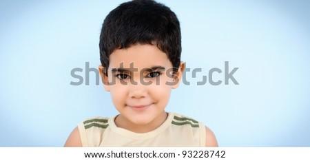 Portrait of a cute hispanic boy - stock photo