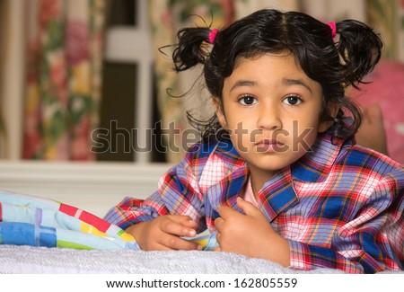 Portrait of a Cute Little Girl - stock photo