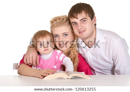 portrait of a cute young family posing