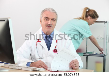 Portrait of a doctor in his office