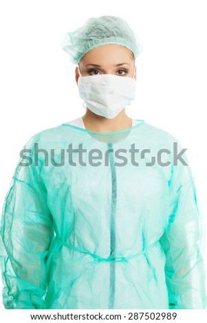 Portrait of a doctor in protective mask.