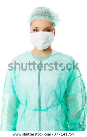 Portrait of a doctor in protective mask