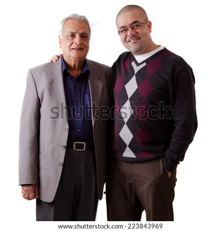 Portrait of a east indian father and son