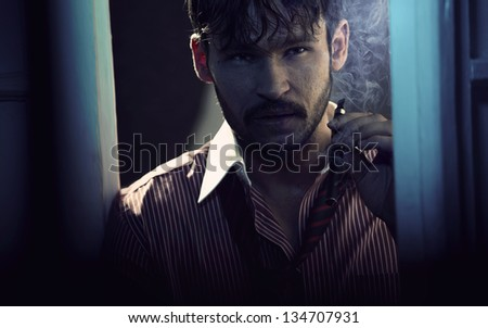 Portrait of a elegant man - stock photo