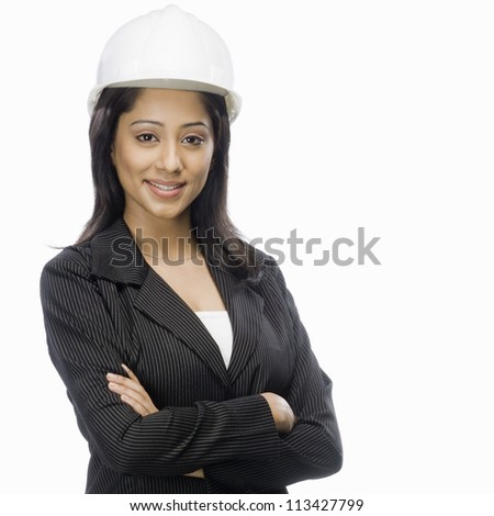 Portrait of a female architect smiling
