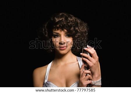 Portrait of a female singer - IE094-039 - stock photo