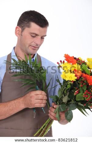 portrait of a florist - stock photo
