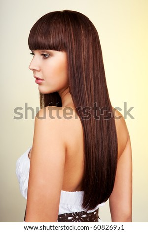 Portrait of a fresh and lovely woman - stock photo