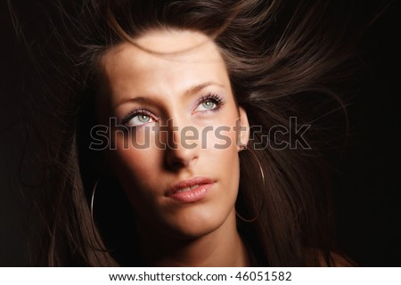 Portrait of a fresh and lovely woman over white background