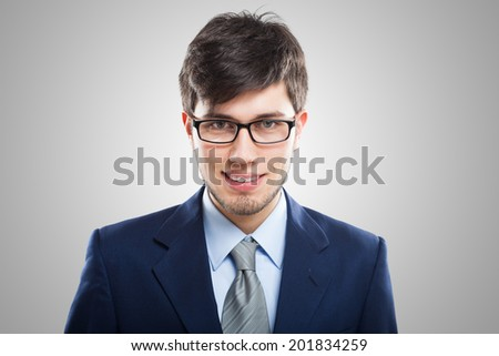 Portrait of a friendly businessman - stock photo