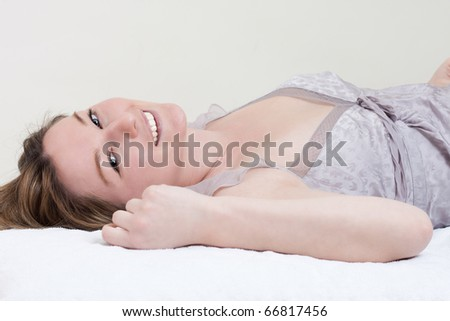 Portrait of a girl lying down