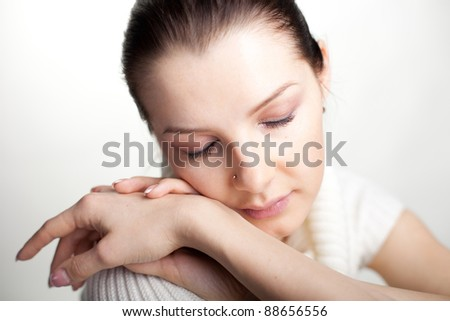 Portrait of a Girl on a white background