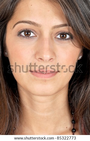 Portrait of a girl teenager. - stock photo