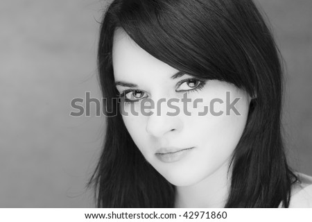 portrait of a gorgeous caucasian young teenager - stock photo
