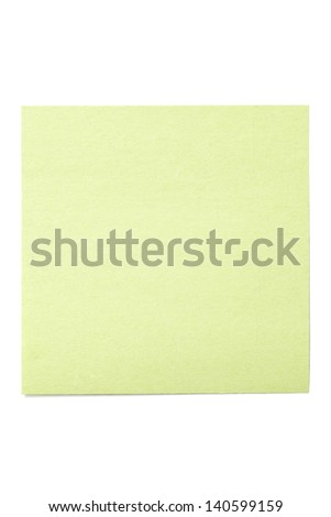 Portrait of a green blank notepad isolated on the white background - stock photo