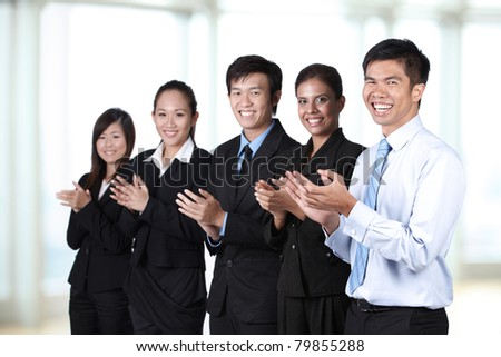 Portrait of  a group of Asian business people