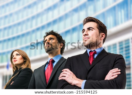 Portrait of a group of business people - stock photo