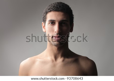 Portrait of a handsome african man - stock photo