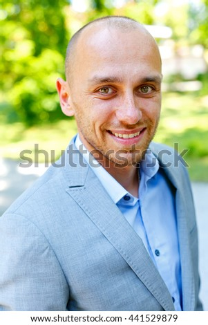 Portrait of a handsome and successful man - stock photo