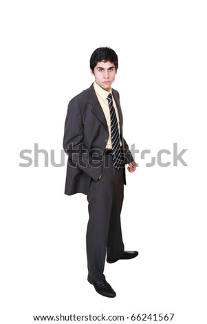 Portrait of a handsome business man  - isolated over a white background