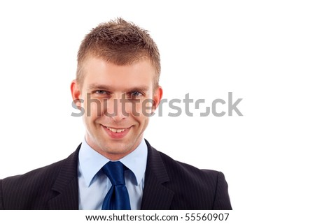 Portrait of a handsome businessman over white background