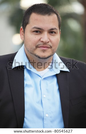 Portrait of a handsome Latino businessman