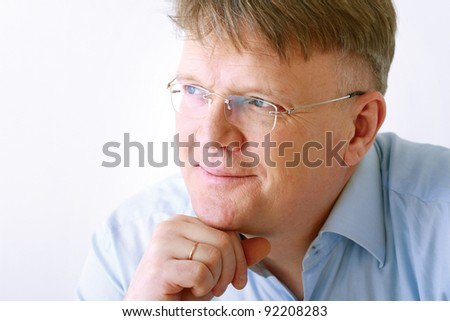Portrait of a handsome older man - stock photo