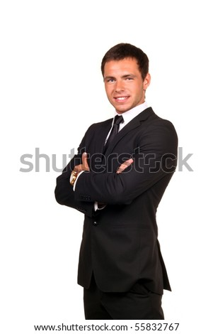 Portrait of a handsome young business man smiling