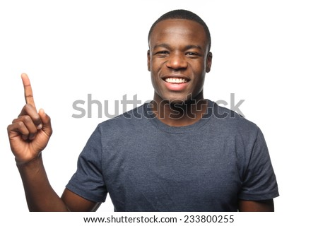 Portrait of a handsome young man - stock photo