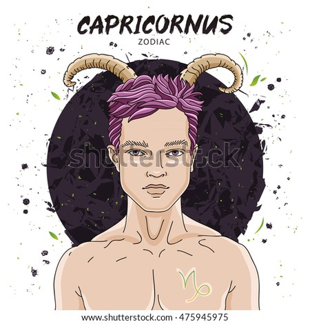 Naked guy with zodiac