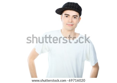 Portrait of a handsome young man. Isolated over white background.