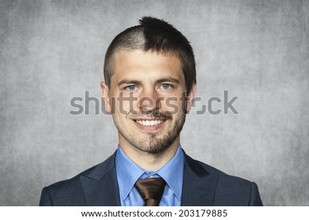 portrait of a happy and cheerful businessman