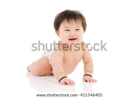 Portrait of a happy asian baby