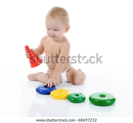 Portrait of a happy child. Isolated on white background