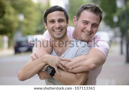 Couple gay portrait