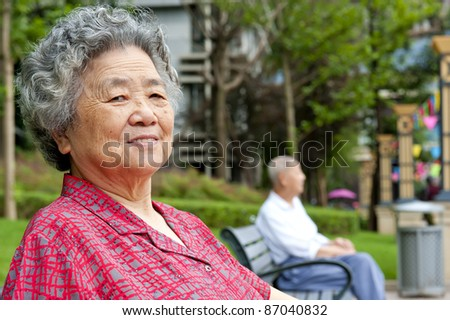 portrait of a happy grandmother - stock photo
