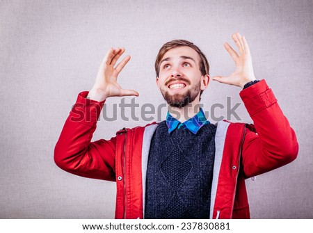 Portrait of a happy man - stock photo