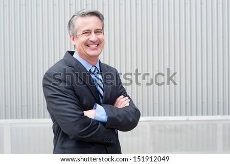 portrait of a happy mature businessman - stock photo