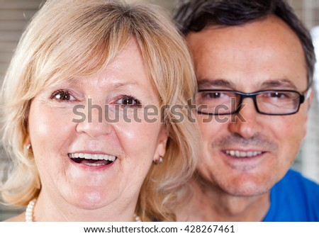 Portrait of a happy mature couple