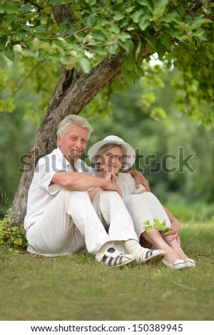 Portrait of a happy older couple spending time together
