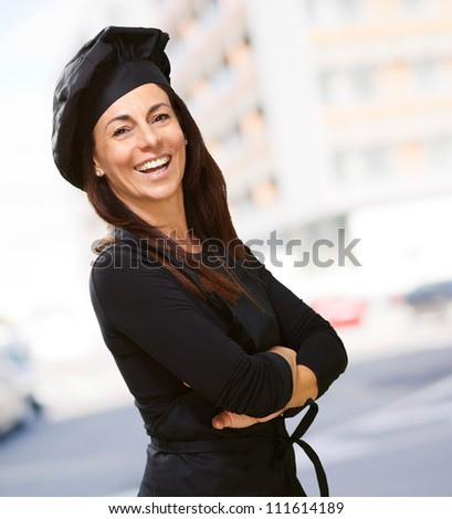Portrait Of A Happy Woman, Outdoor