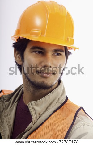 portrait of a hardhat worker