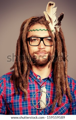 Images similar to id 165542693 portrait of a hippie young man