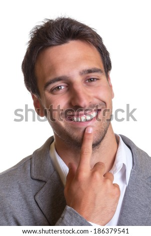 Portrait of a latin businessman in a grey suit  - stock photo