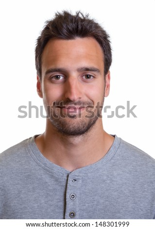 Portrait of a latin man - stock photo