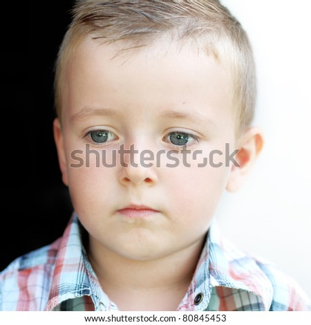 portrait of a little boy - stock photo