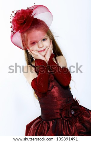 Portrait of a little girl in beautiful dress