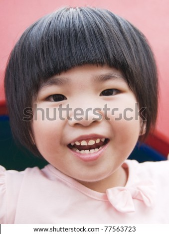 Portrait of a lovely asian girl - stock photo