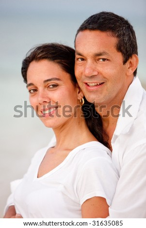 Portrait of a loving couple enjoying their vacations
